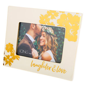 Laughter & Love Photo Frame - White,