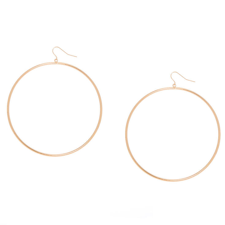 Gold 80MM Hoop Drop Earrings,