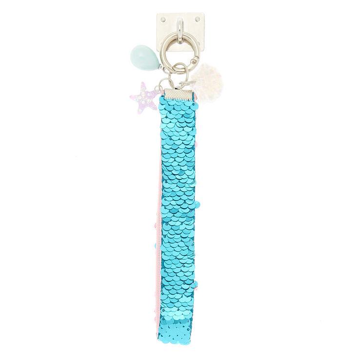 Mermaid Reverse Sequin Phone Wrist Strap - Turquoise,