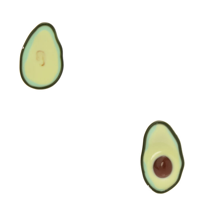 Mismatch Avocado Stud Earrings,