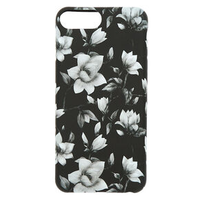 Black & White Floral Phone Case - Fits iPhone 6/7/8,