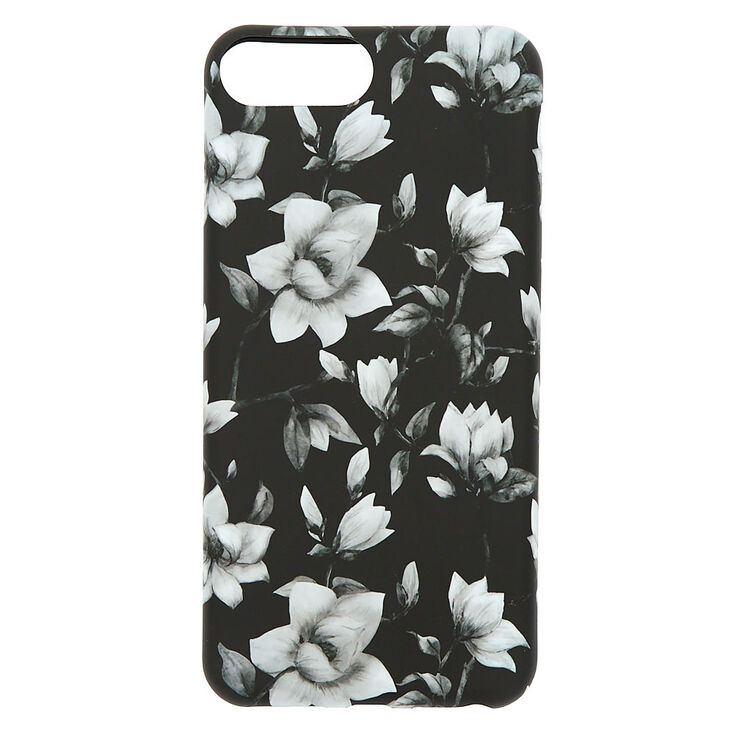 Black & White Floral Phone Case - Fits iPhone 6/7/8/SE,
