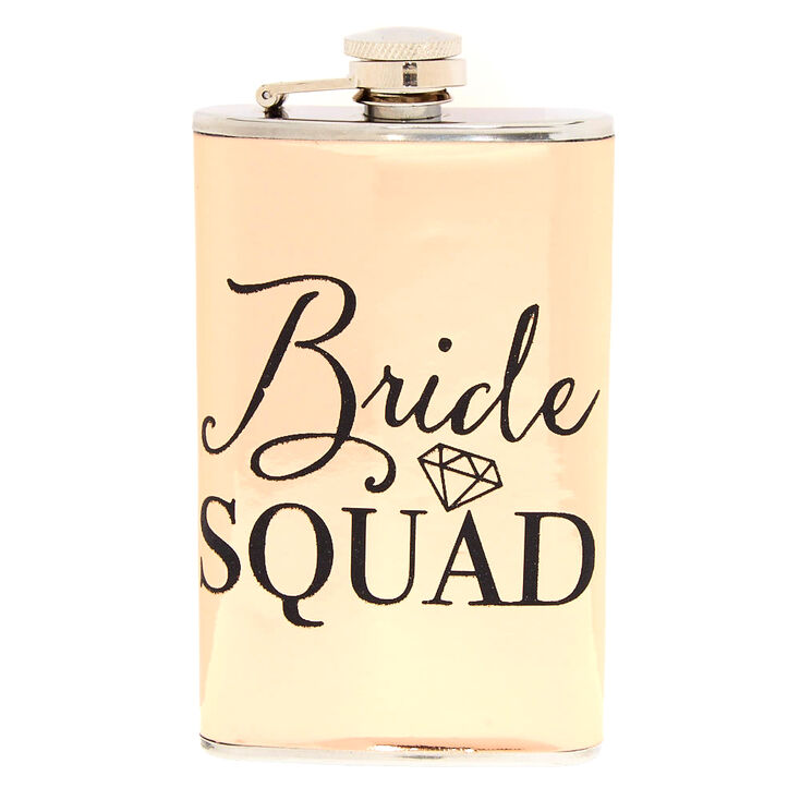 Rose Gold Bride Squad Flask,