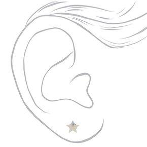 Sterling Silver Star Stud Earrings - 5MM,