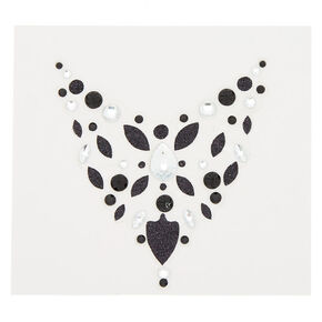 Chest Bling Body Sticker - Black,
