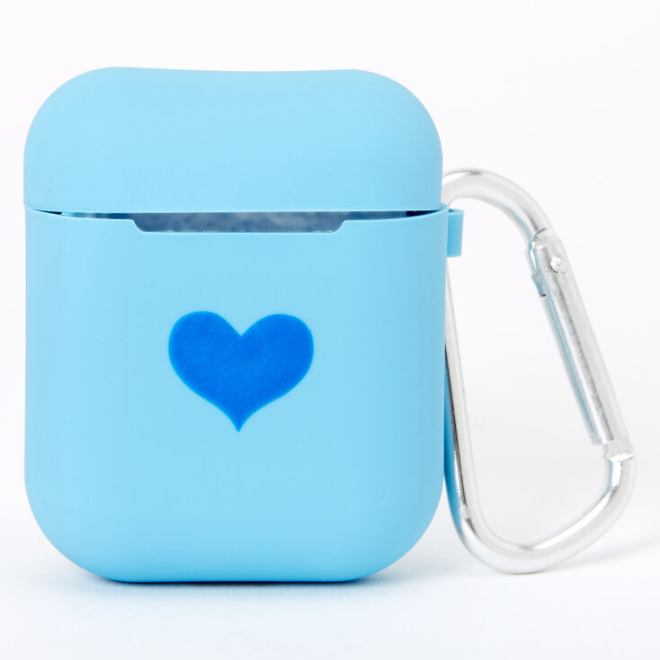 Cobalt Heart Silicone Earbud Case Cover - Compatible With Apple AirPods,