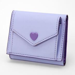 Lavender Heart Trifold Wallet,