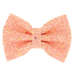 Mini Cake Glitter Hair Bow Clip - Rose Gold,