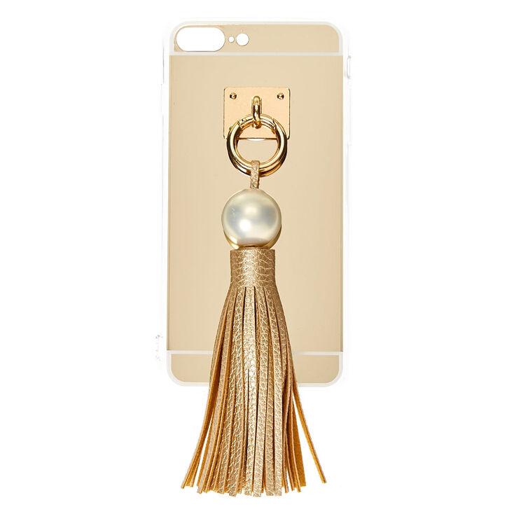 Gold & Pearl Tassel Phone Case,