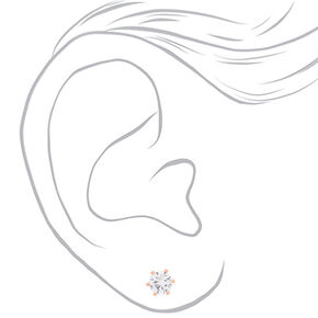 18kt Rose Gold Plated 6MM Cupcake Stud Earrings,