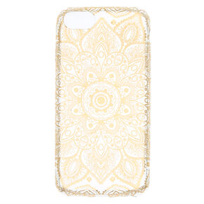 Metallic Gold Mandala Phone Case,