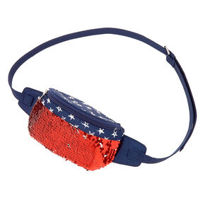 USA Reversible Sequins Fanny Pack - Blue,