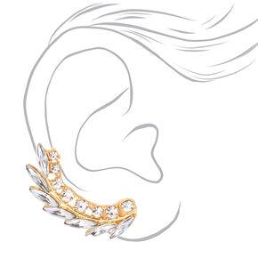 Mismatched Crawler Earring Set,