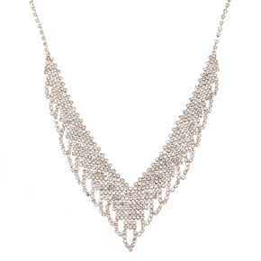 Rhinestone Wing Bib Statement Necklace,