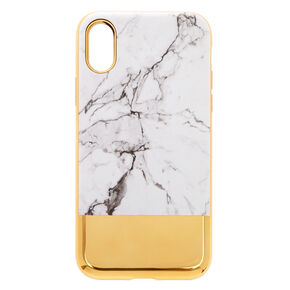 Marble & Gold Protective Phone Case - Fits iPhone X/XS,