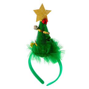Christmas Tree Headband - Green,