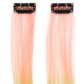 Pastel Rainbow Faux Hair Extensions - 2 Pack,