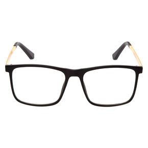 Matte Retron Clear Lens Frames - Black,