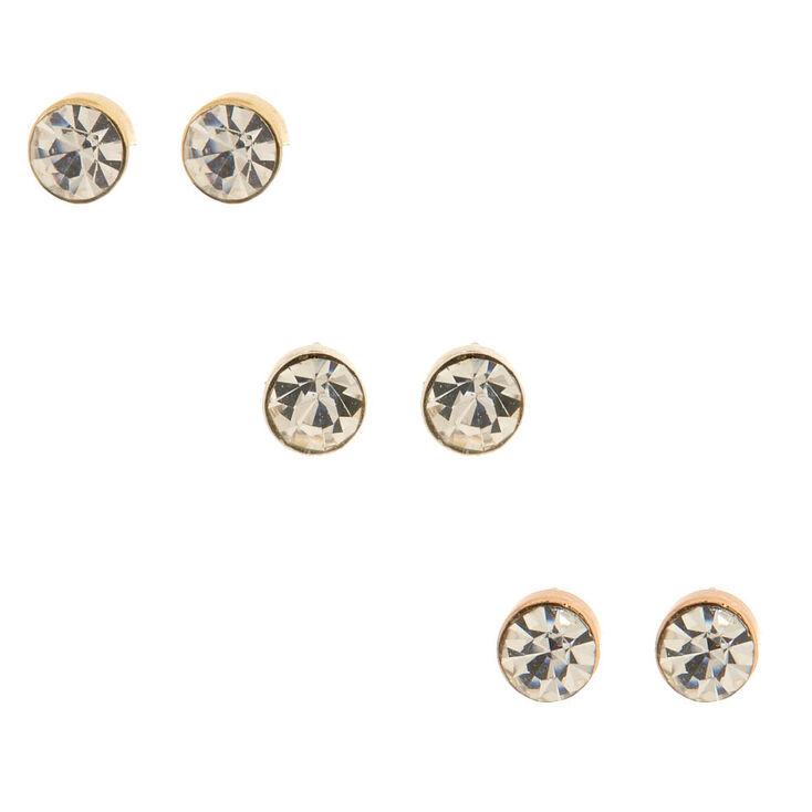 6 Pack Stud & Heart Hoop Earrings,