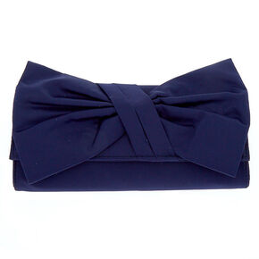 Bow Clutch Bag - Navy,