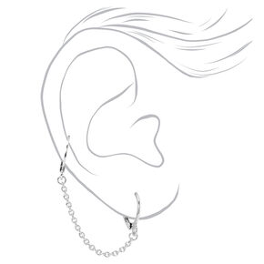 Silver Crystal Ball Ear Cuff & Mixed Earrings - 6 Pack,