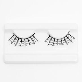 Spiderweb Glitter Eyelashes - Black,