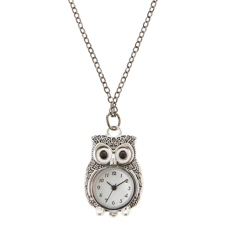 Long owl clock necklace icing us long owl clock necklace mozeypictures Images