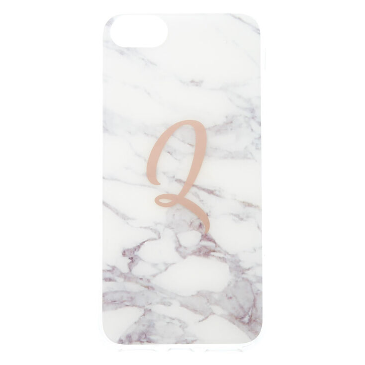 Marble Q Initial Phone Case - Fits iPhone 6/7/8,