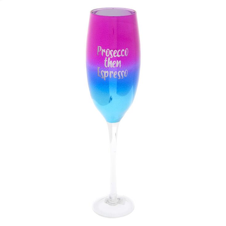 Rainbow Champagne Flute,
