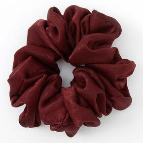 Giant Satin Hair Scrunchie - Burgundy,