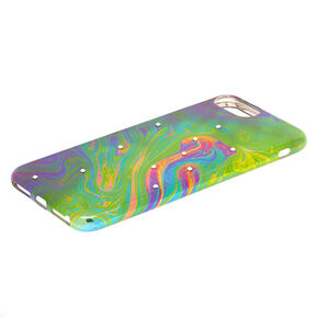 Oil Slick Stone Studded Phone Case - Fits iPhone 6/7/8 Plus,
