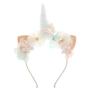 Holographic Unicorn Cat Ears Headband - Rose Gold,