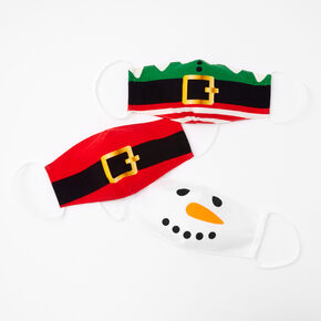 3 Pack Cotton Holiday Themed Face Masks - Adult,