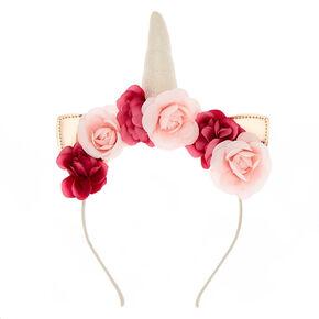 Rose Gold Unicorn Flower Crown Headband,