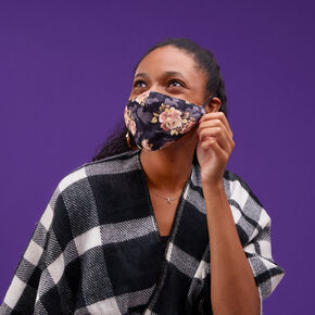 Floral Camo Cotton Cloth Face Mask - Adult,