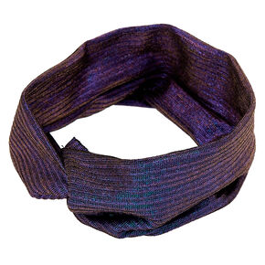 Twisted Oil Slick Headwrap - Purple,