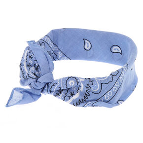 Light Blue Paisley Bandana Headwrap,