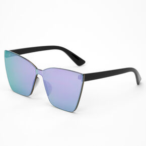 Tinted Shield Sunglasses - Purple,