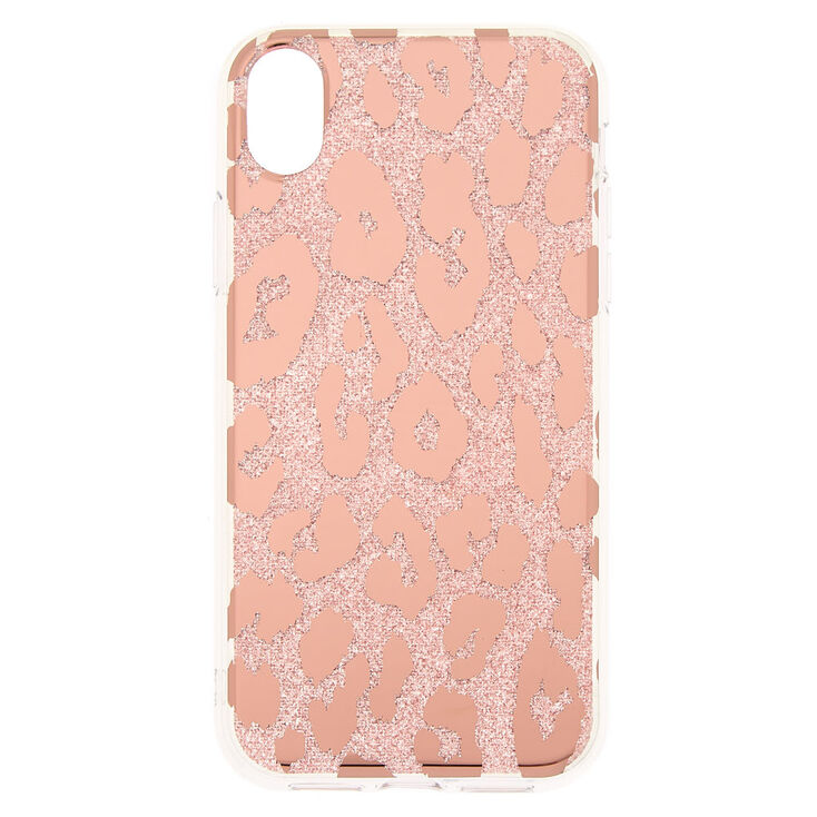 Glitter Leopard Print Phone Case - Fits iPhone XR,