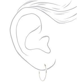 Sterling Silver Single Hoop Earrings,