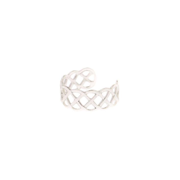 Celtic Knot Silver Toe Ring,