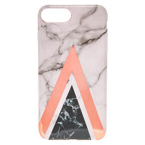 Geometric Marbled Phone Case - Fits iPhone 6/7/8 Plus,