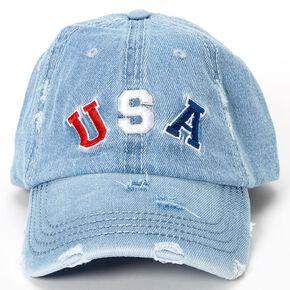 USA Denim Baseball Cap - Blue,