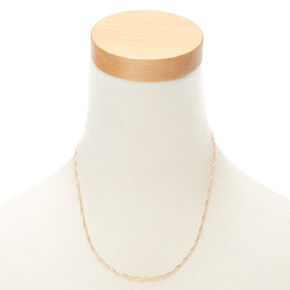 Gold Twist Chain Necklace,