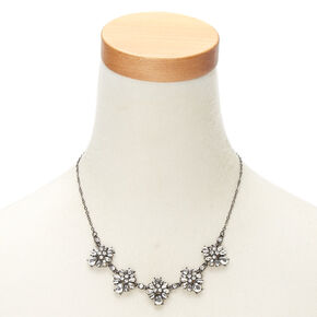 Hematite Ornate Statement Necklace,