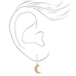 Gold Hamsa Hand Evil Eye Mixed Earrings - 6 Pack,