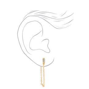 Mixed Metal Geometric Heart Stud & Hoop Earrings - 9 Pack,