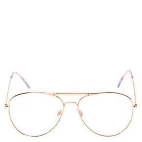 Rose Gold Metal Aviator Frames,
