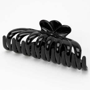 Large Clamshell Hair Claw - Black,