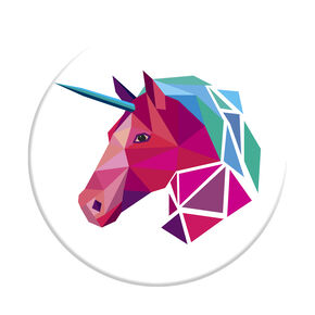 Geometric Unicorn PopSocket,
